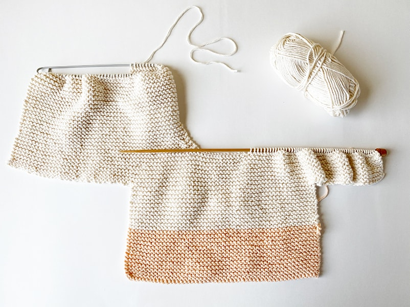 Baby sweater step 8