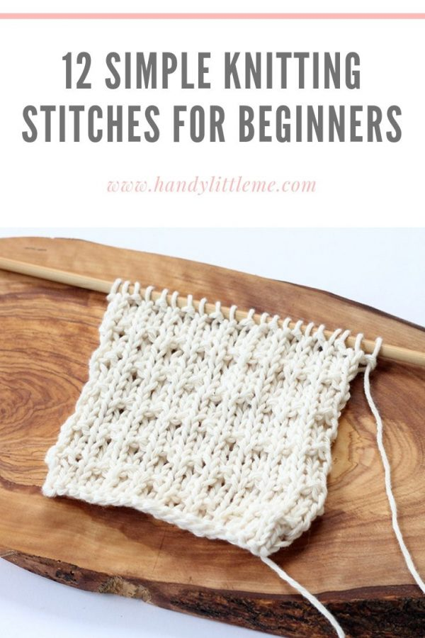 Beginner knitting stitches