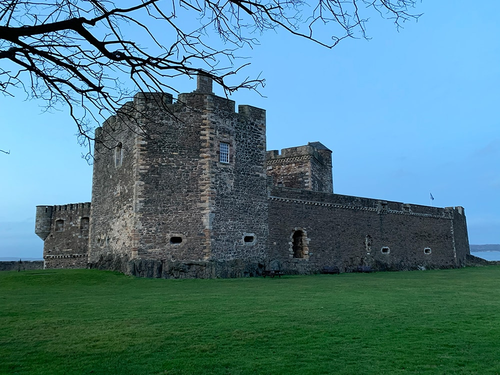 Blackness castle landscape