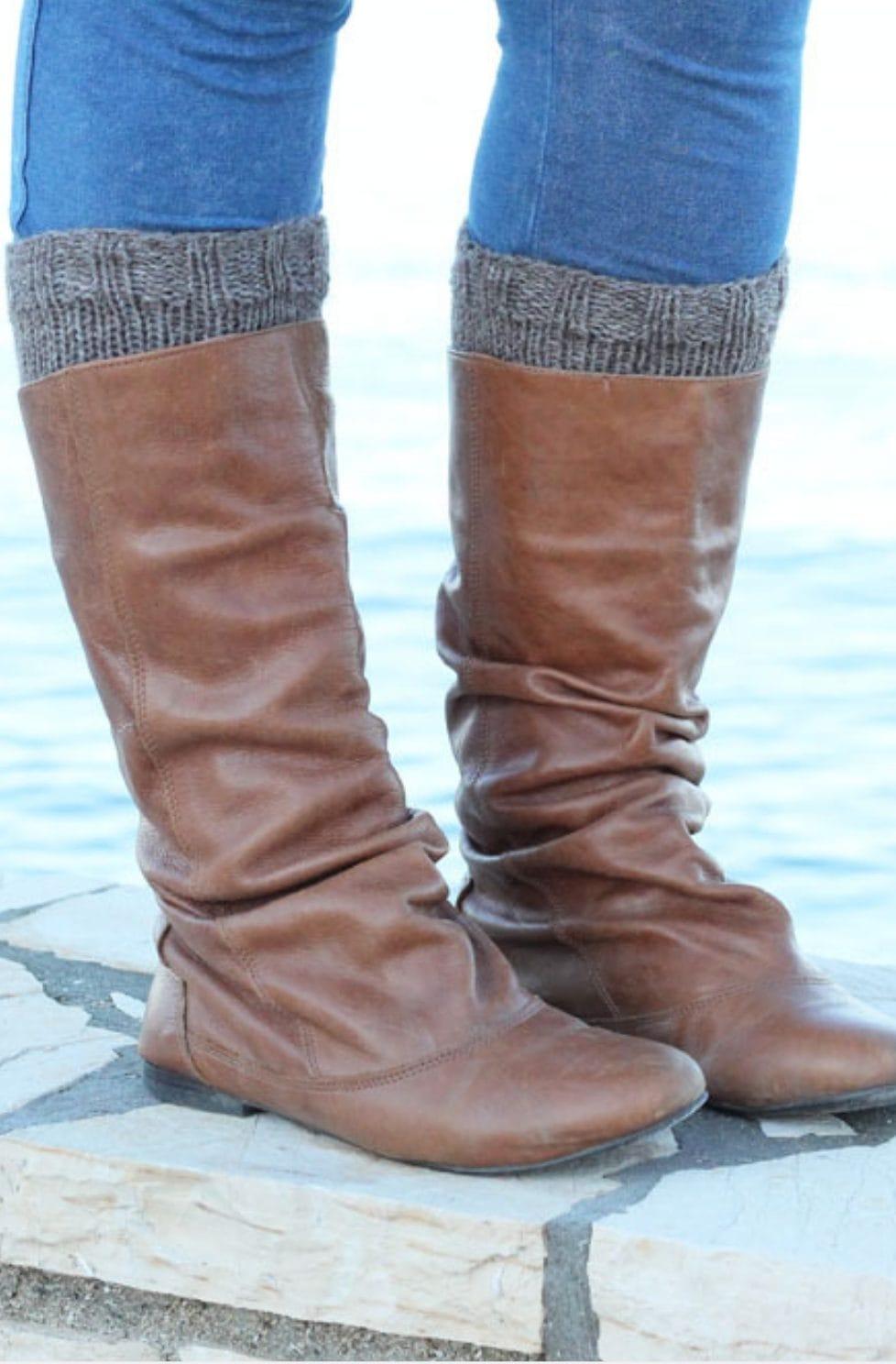 Boot Cuffs Free Knitting Pattern