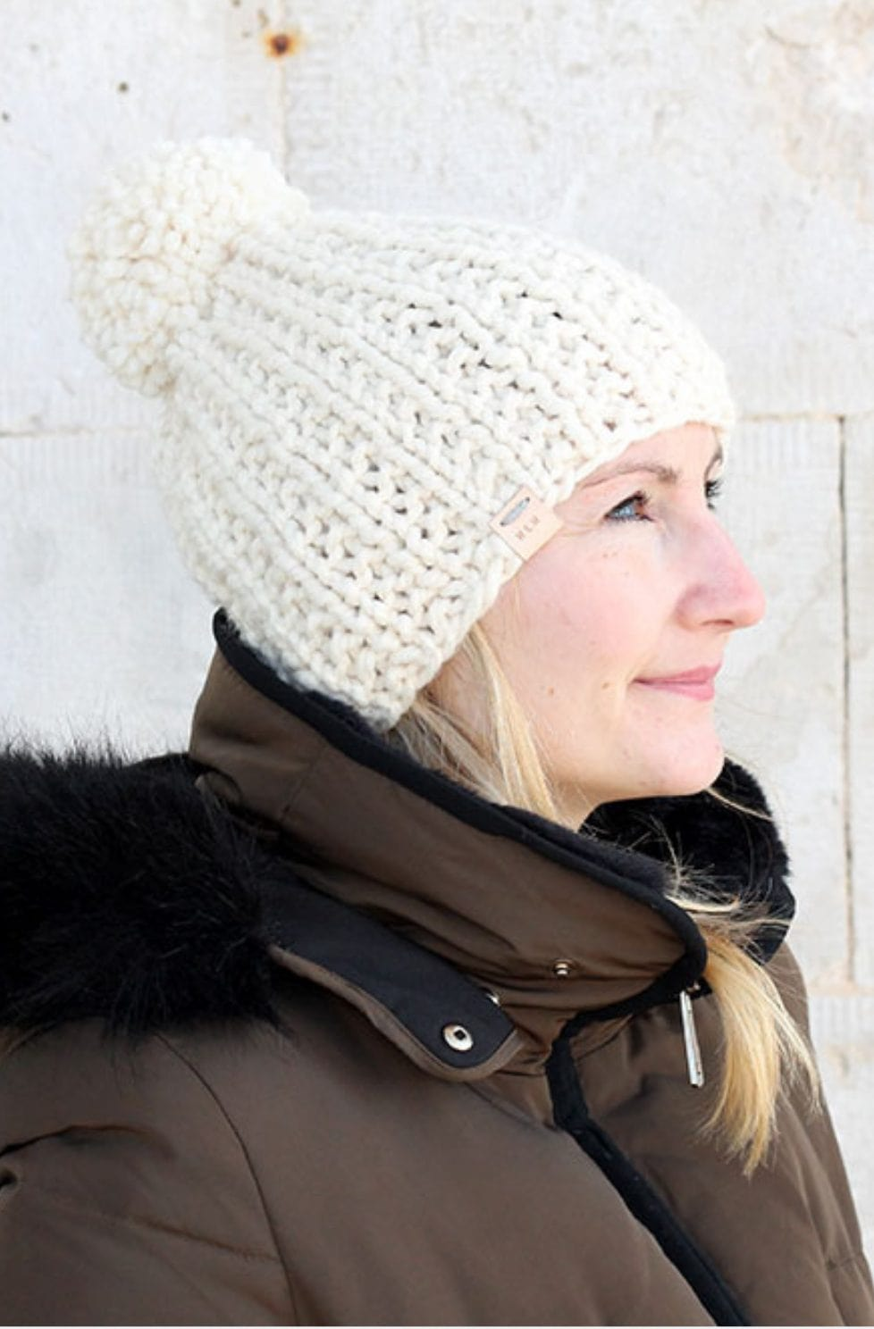 Broken rib hat pattern
