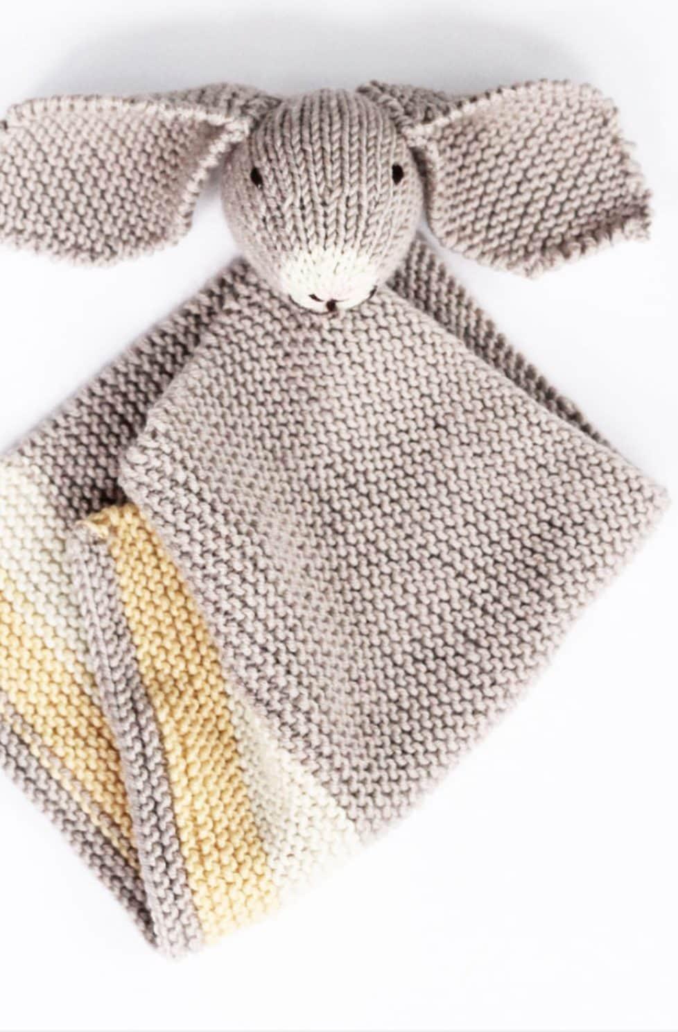 Bunny Baby Blankie - Knitting Pattern