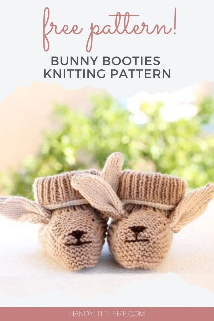 Bunny booties free pattern