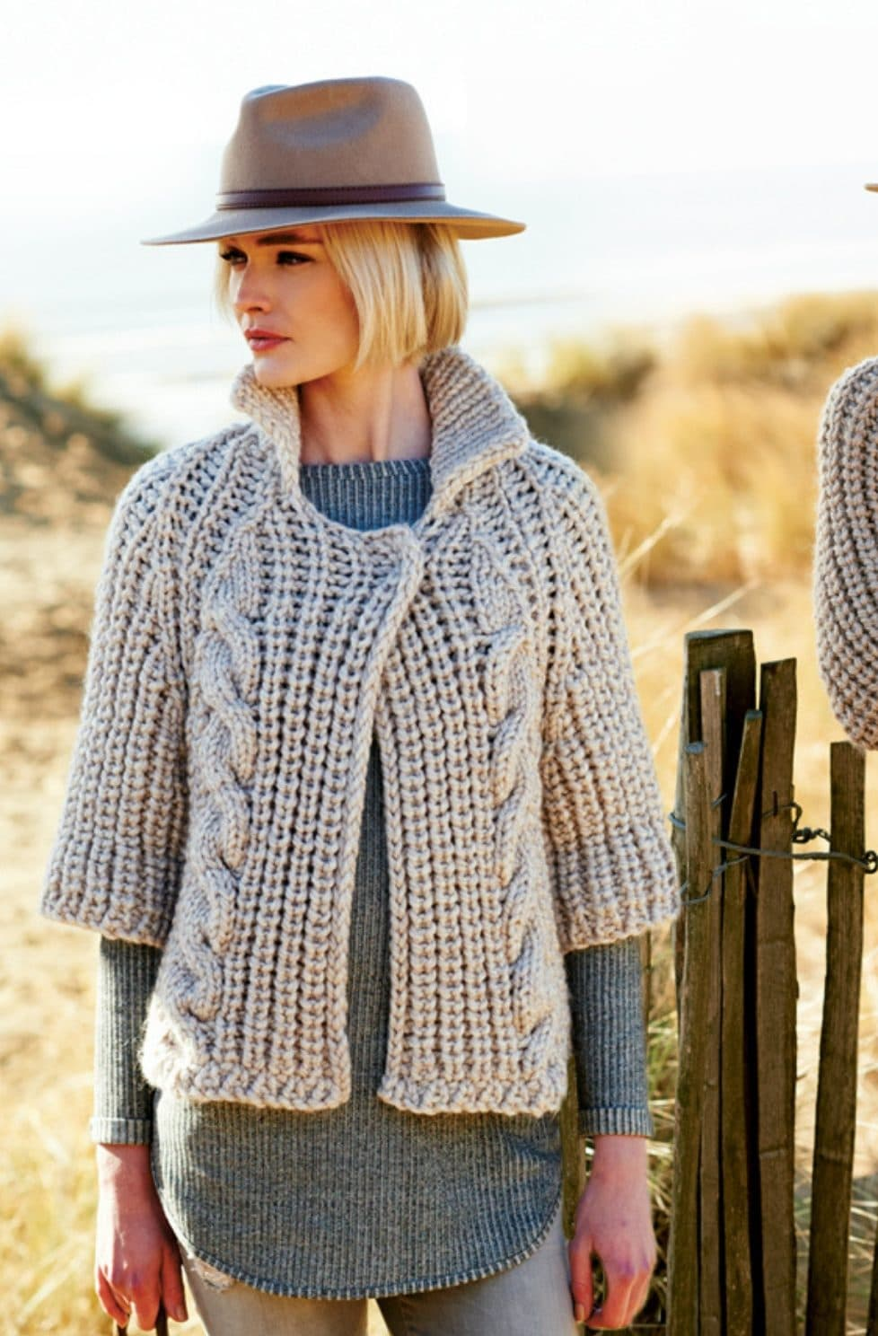 Cable cardigan pattern