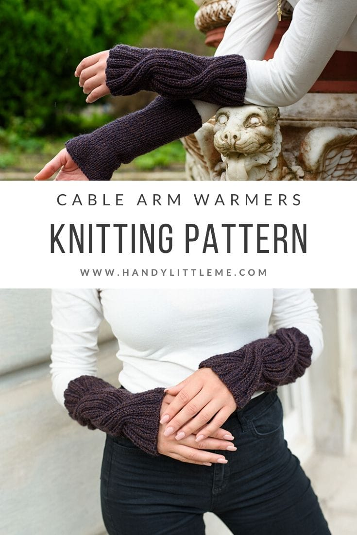 Cable knit arm warmers pattern free
