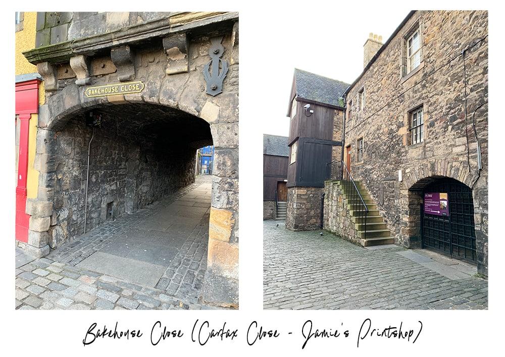 Carfax close in Edinburgh