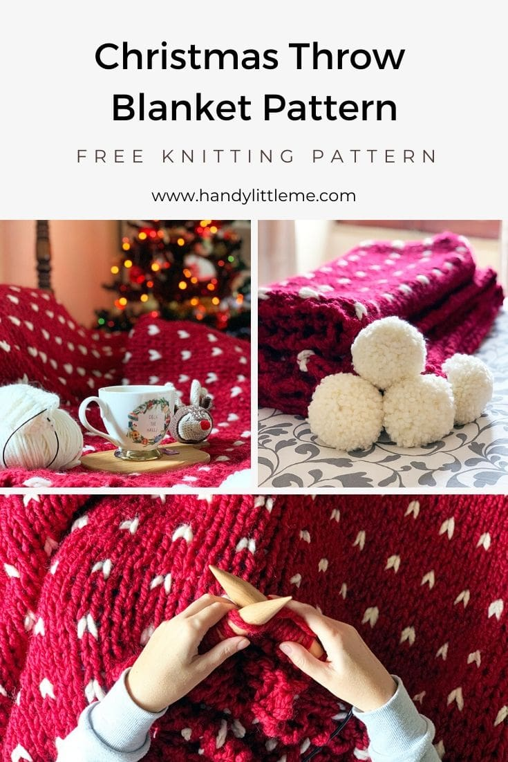 Christmas blanket knitting pattern