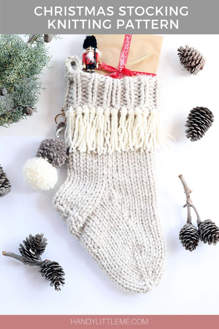 Noel çorap örgü modeli