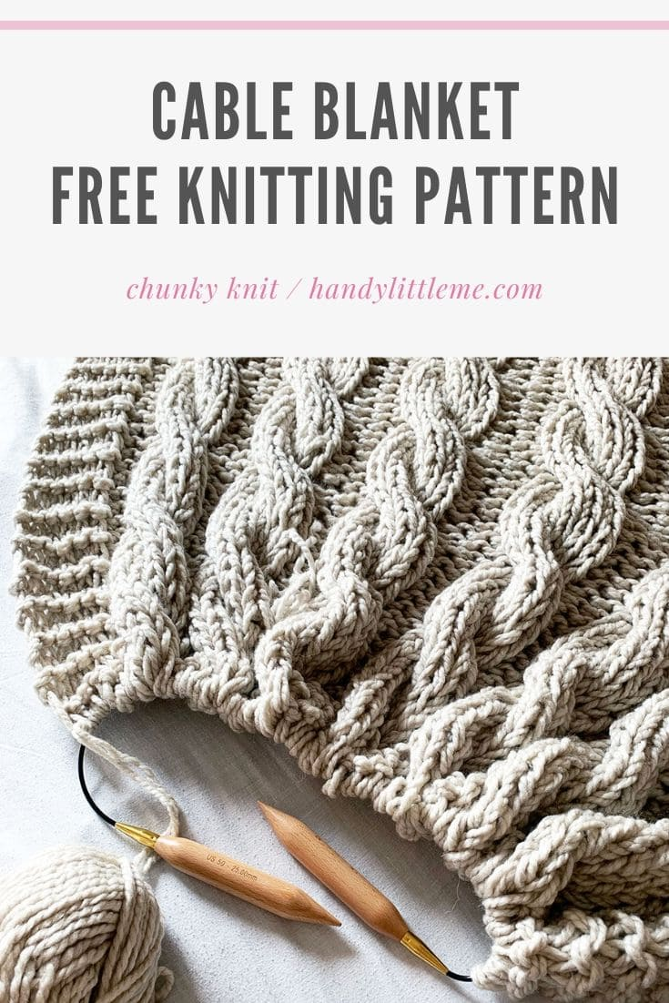 Chunky blanket knitting pattern
