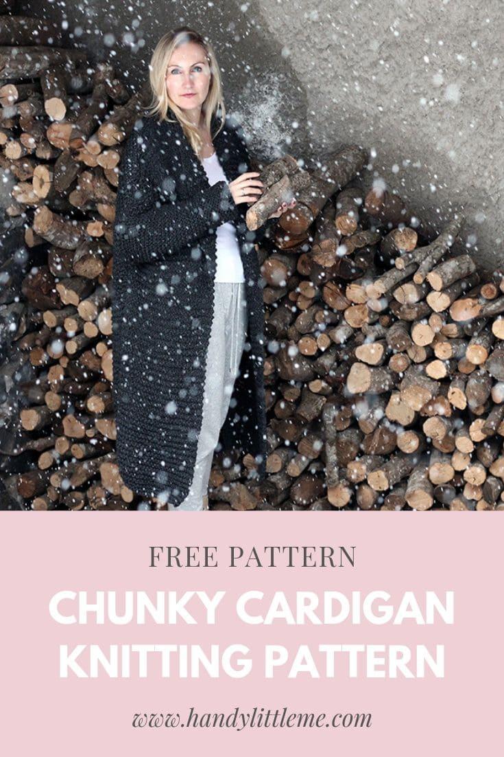 Chunky cardigan free knitting pattern