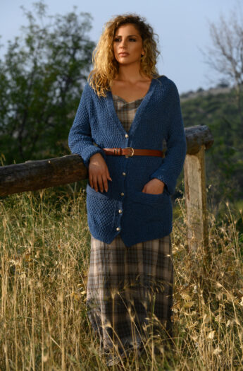Outlander Claire's Blue Cardigan Knitting Pattern