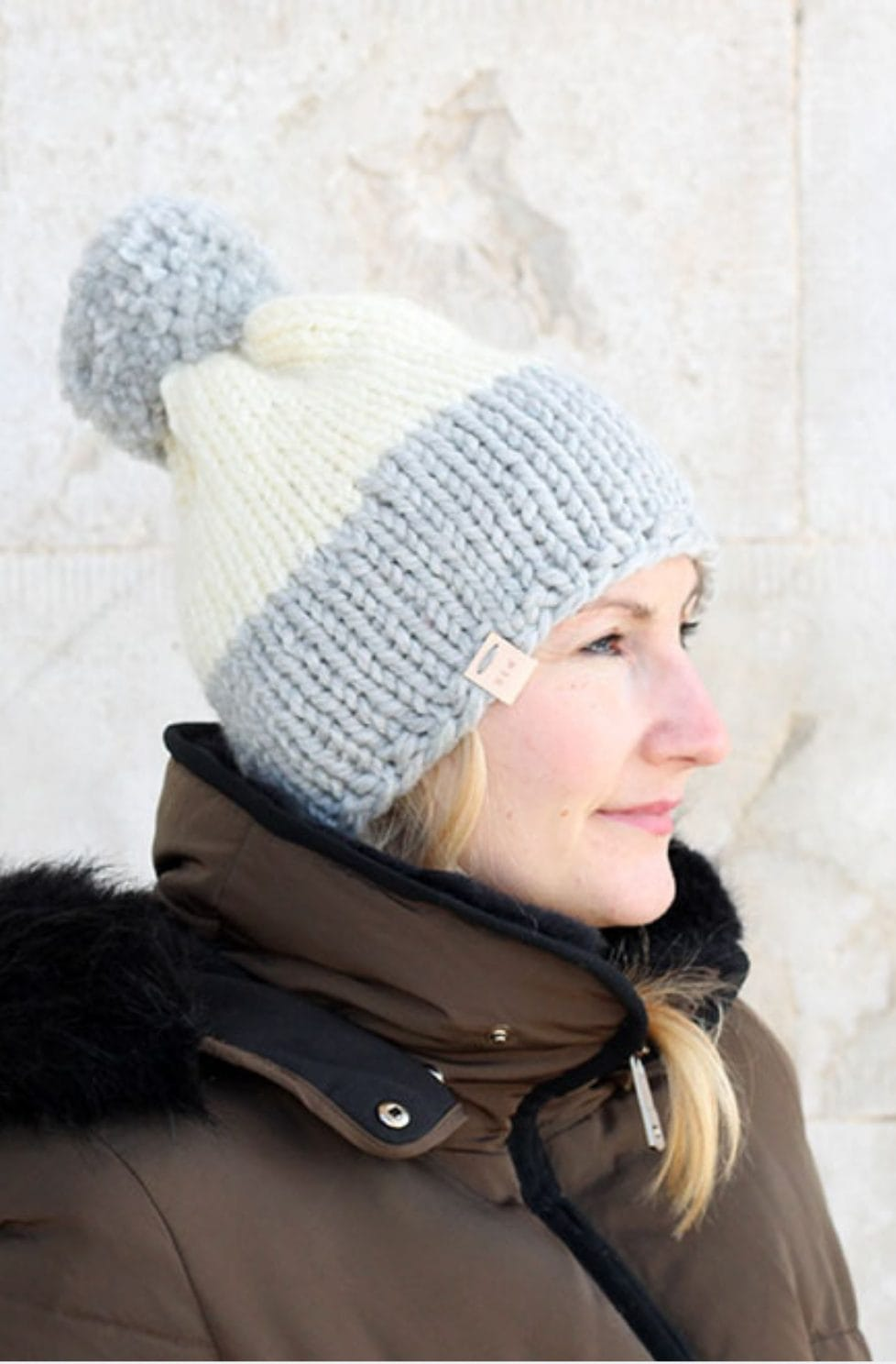 Colour block hat pattern