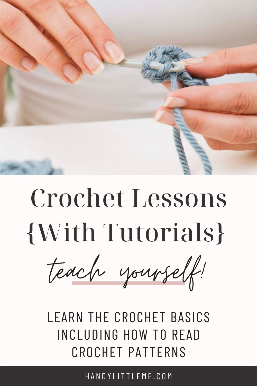 Crochet Lessons with tutorials
