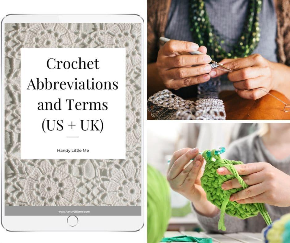 Crochet abbreviations free download