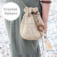 Drawstring Bag Crochet Pattern PDF