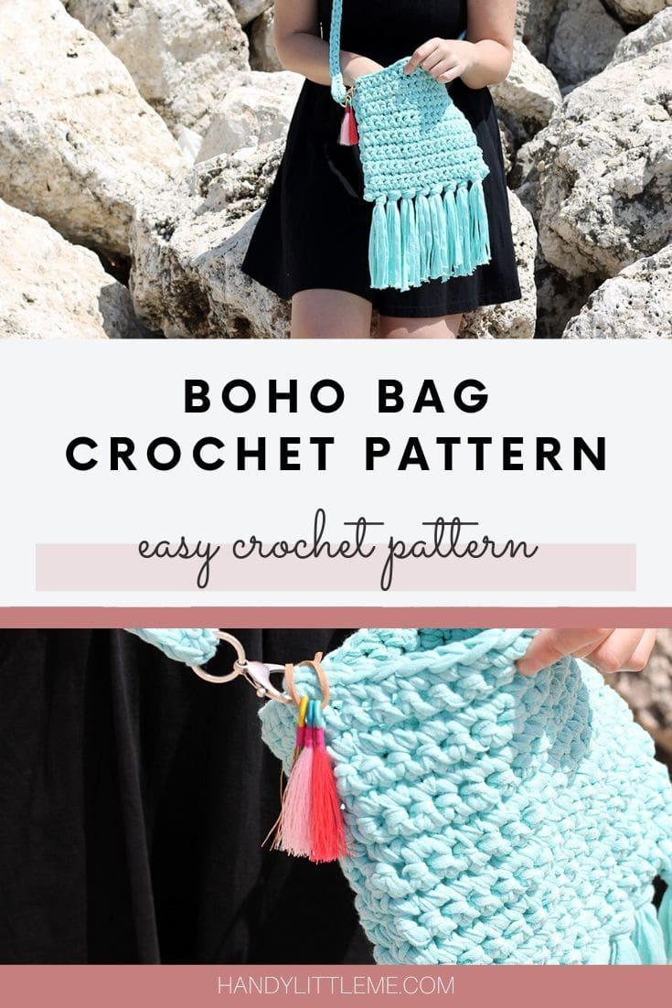 Crochet boho bag