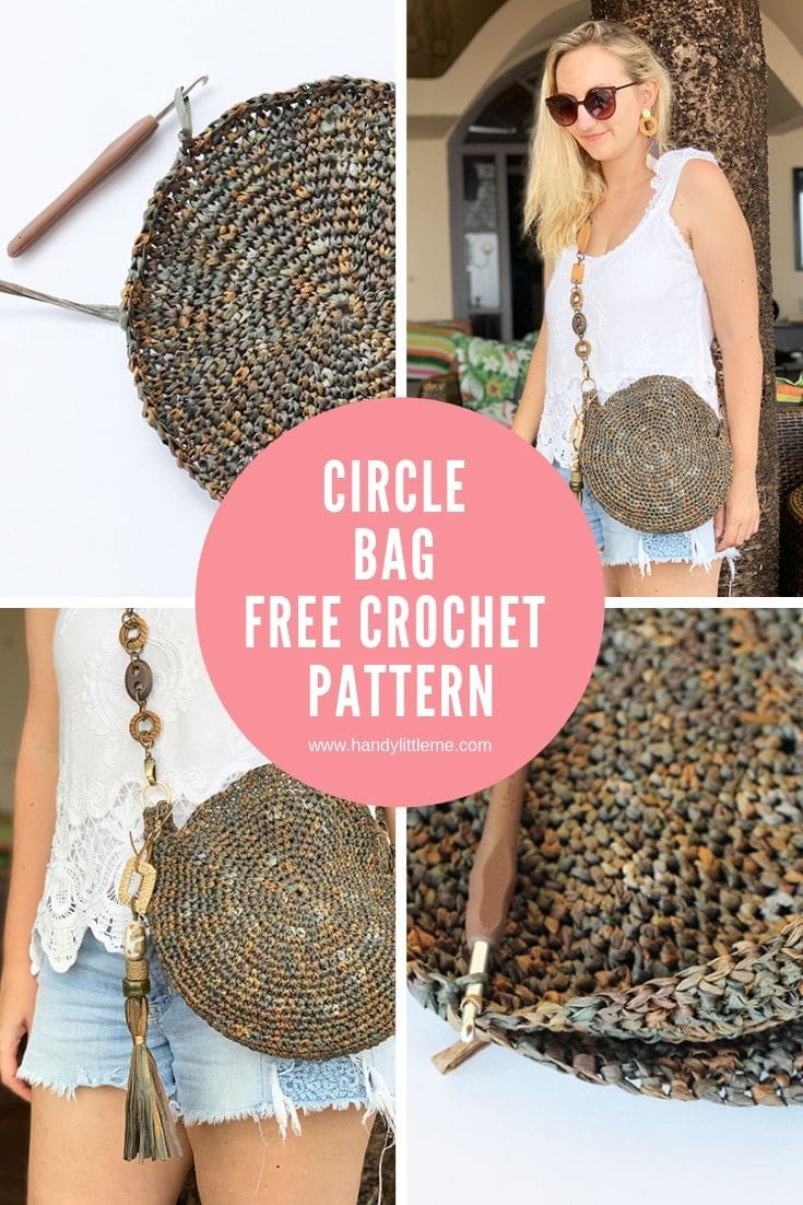 Crochet circle bag pattern free