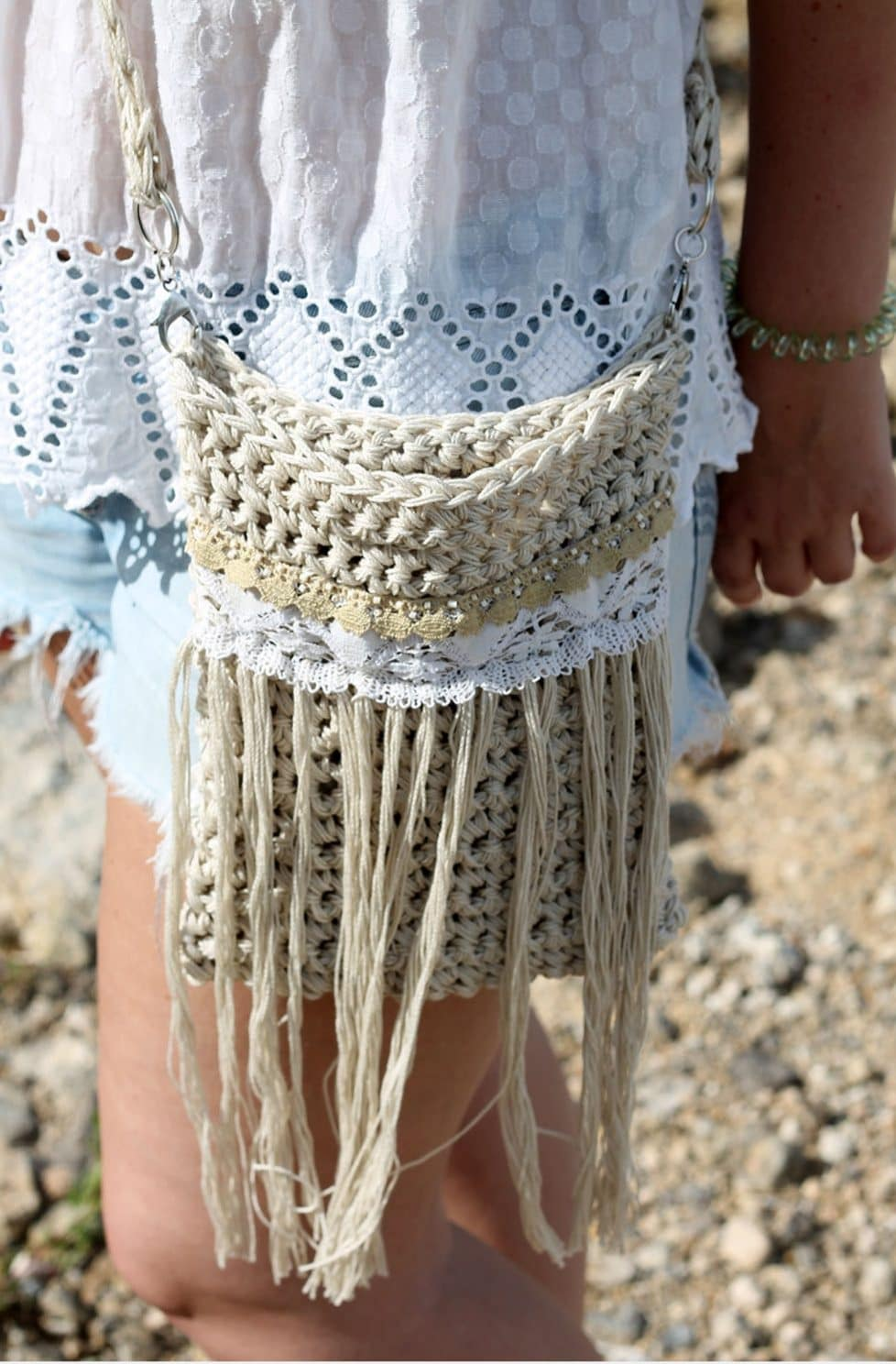Crochet Fringe Bag