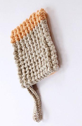 Crochet Wash Mitt Pattern {The Popcorn Stitch}