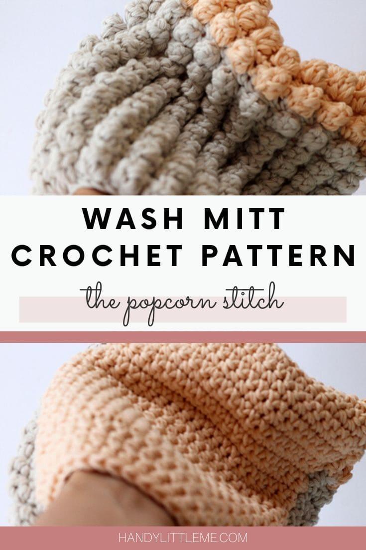 Crochet wash mitt pattern