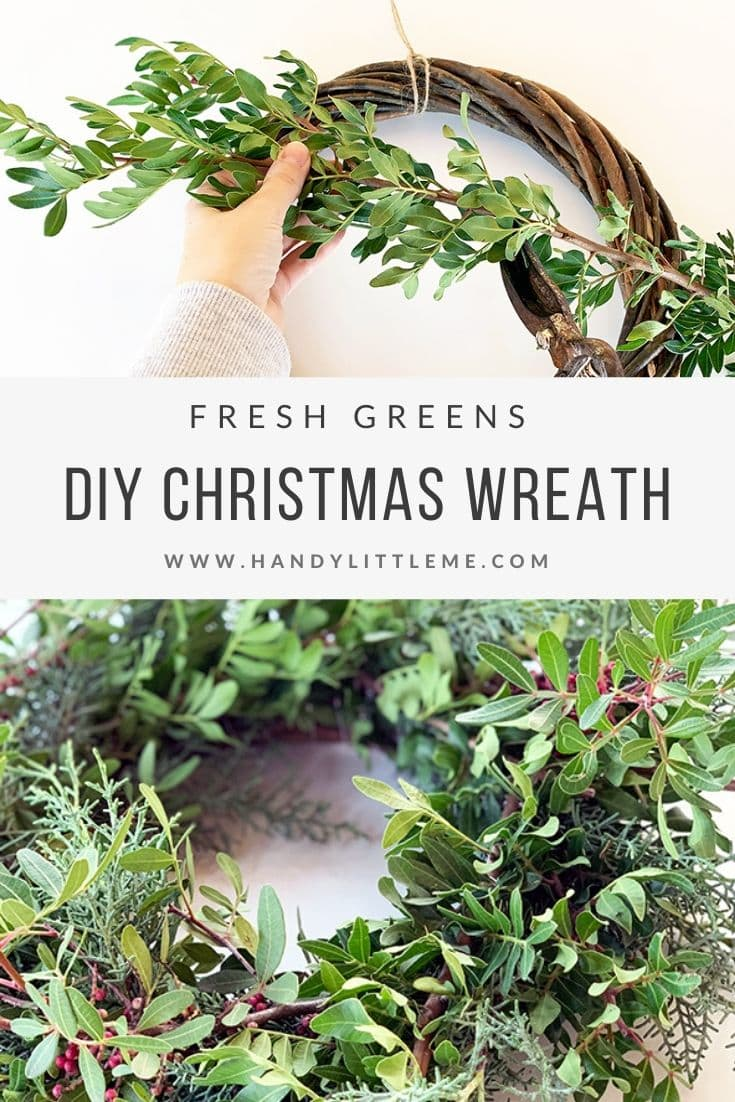 DIY Christmas wreath tutorial