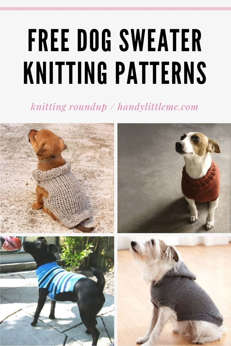 Dog sweater knitting patterns