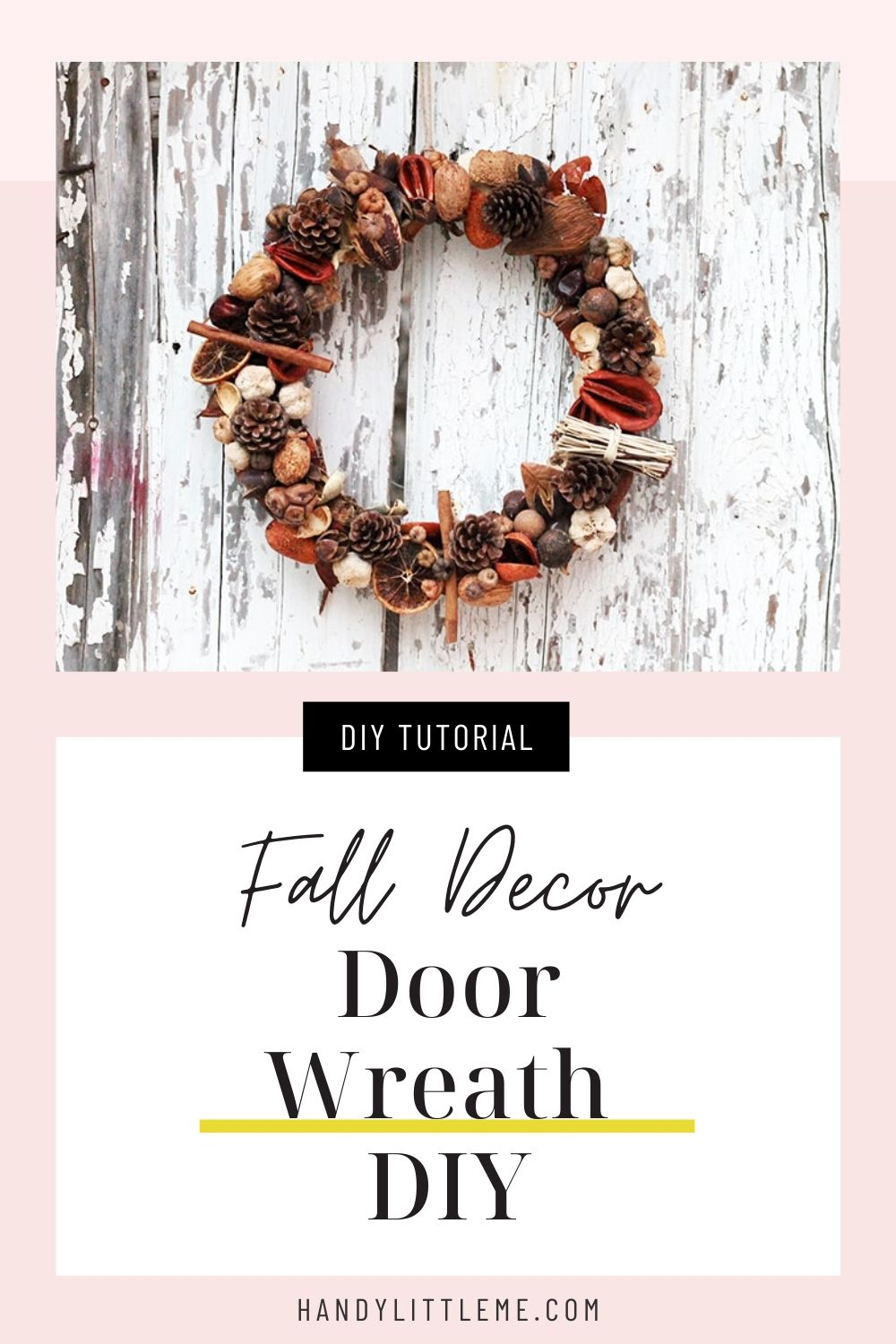 Door wreath DIY