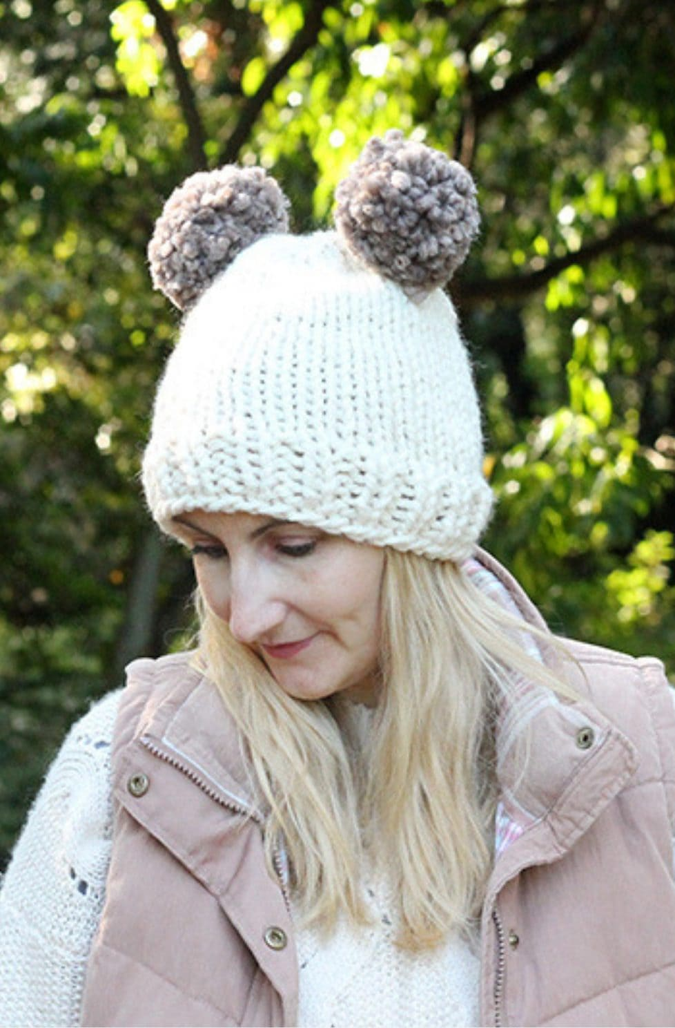 Double Pom Pom Hat Pattern
