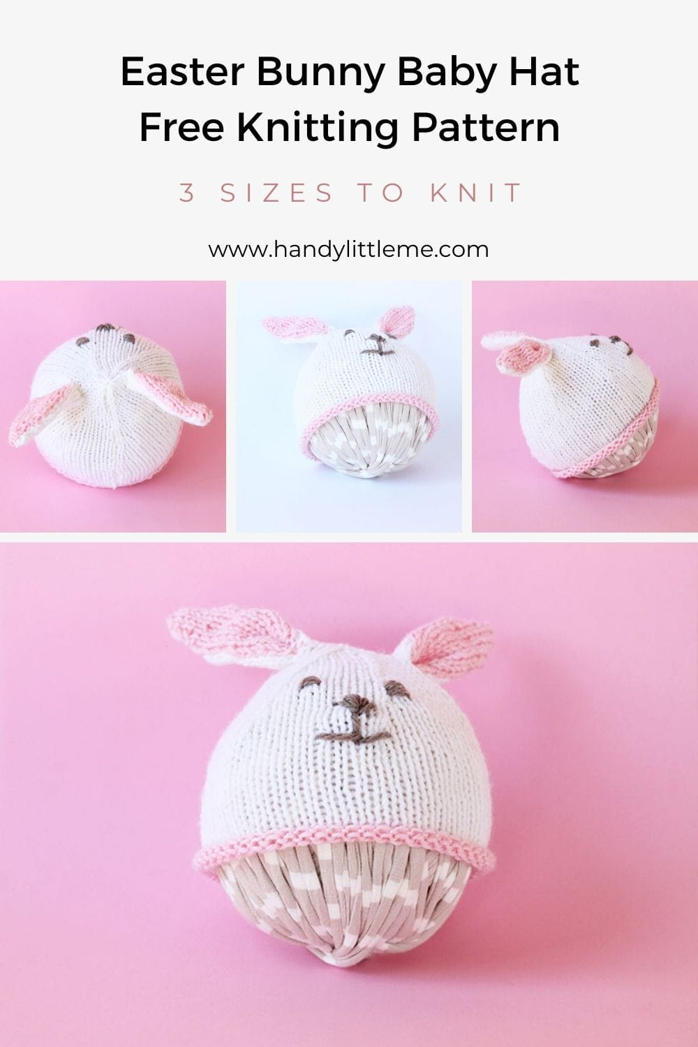 Easter bunny hat knitting pattern