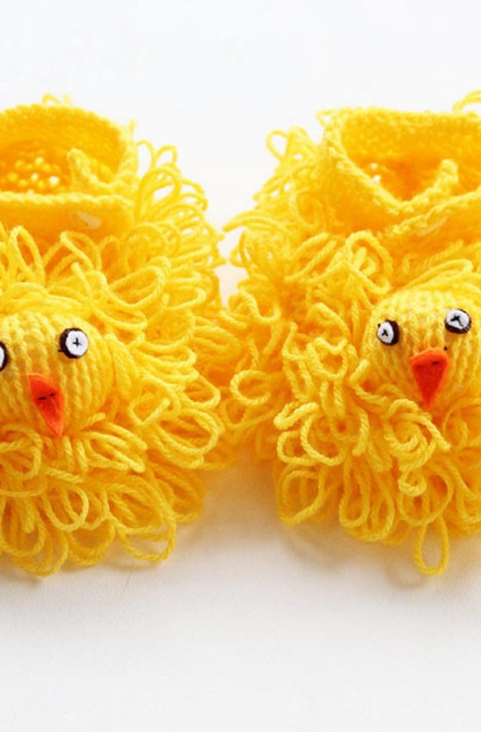 Easter chick slippers