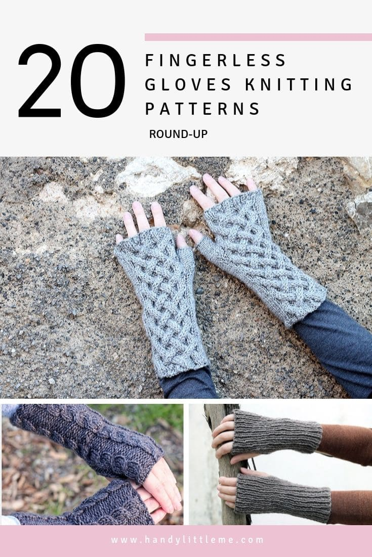 20 Easy And Quick Fingerless Gloves Knitting Patterns