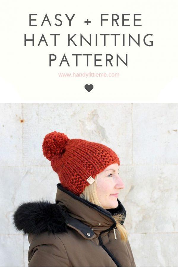 Easy hat knitting pattern free