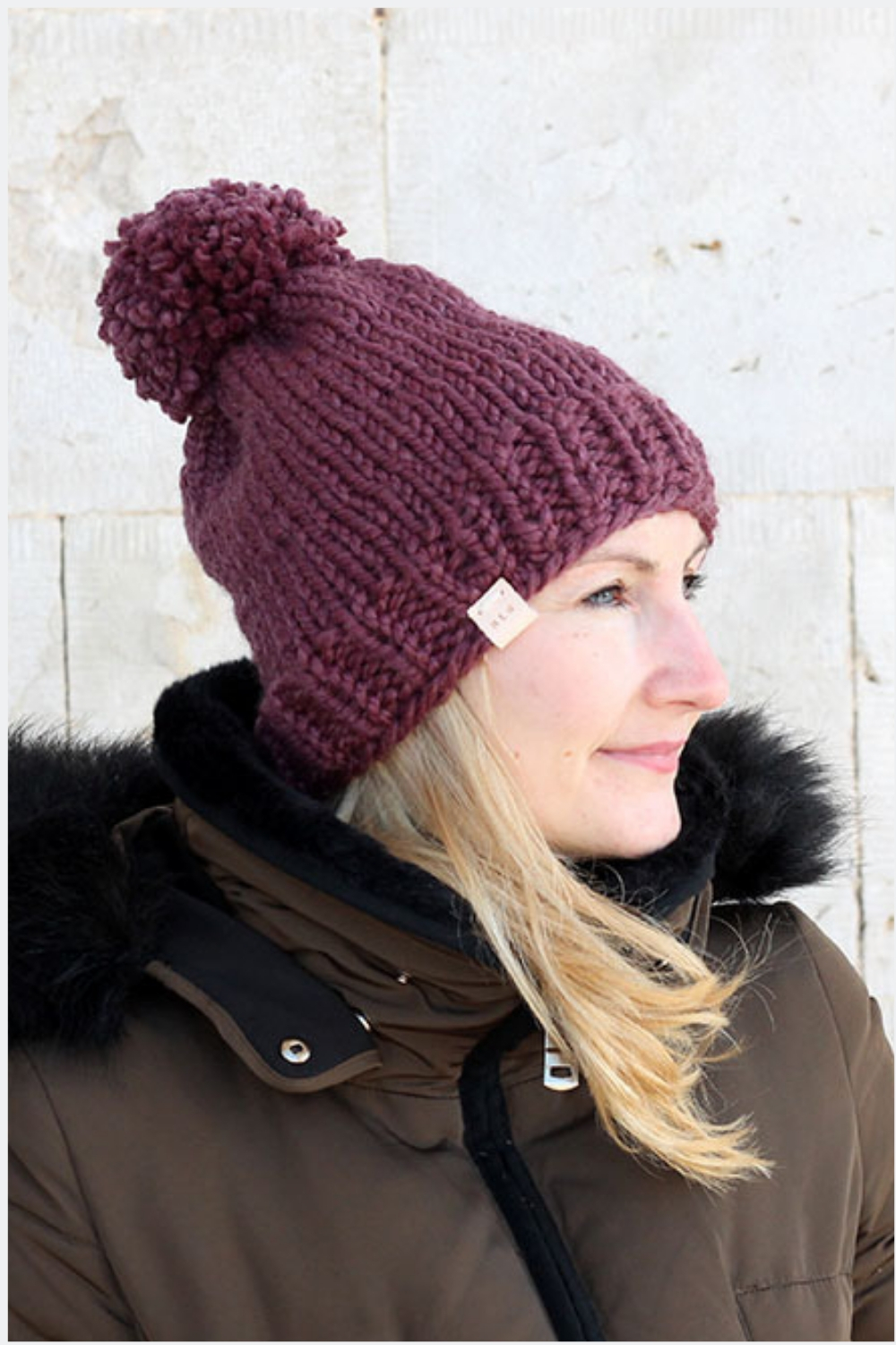 Beginner Hat Knitting Pattern - Knit In The Round