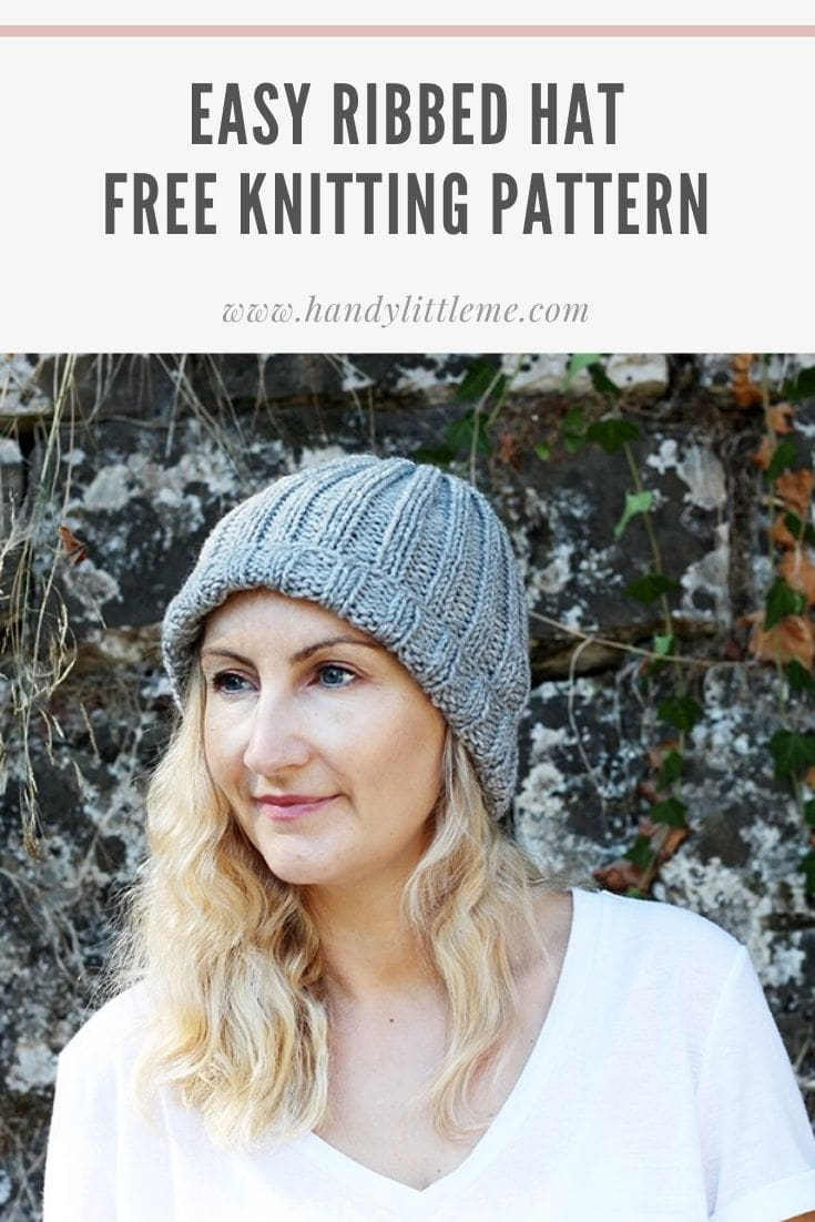 Easy ribbed hat pattern