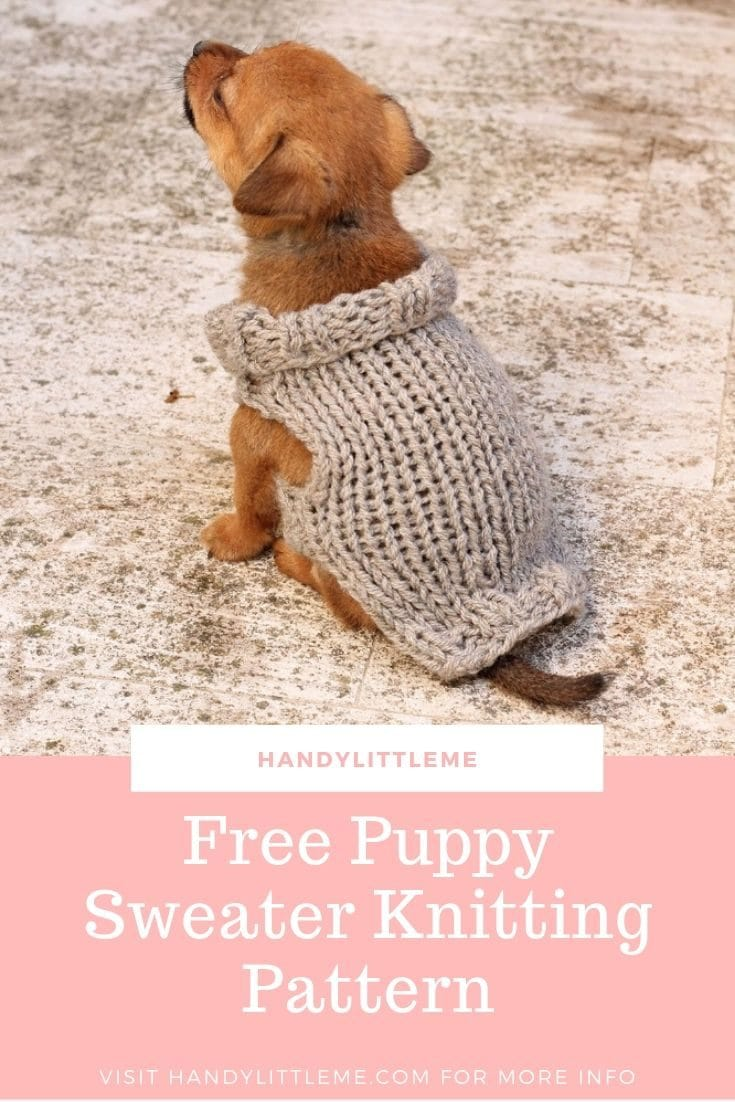 Free Knitting Pattern For A Puppy Sweater