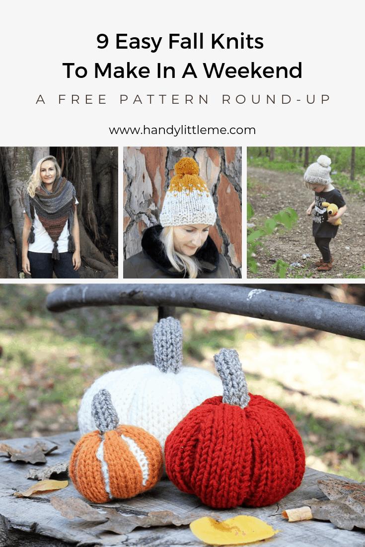 Fall knitting patterns free