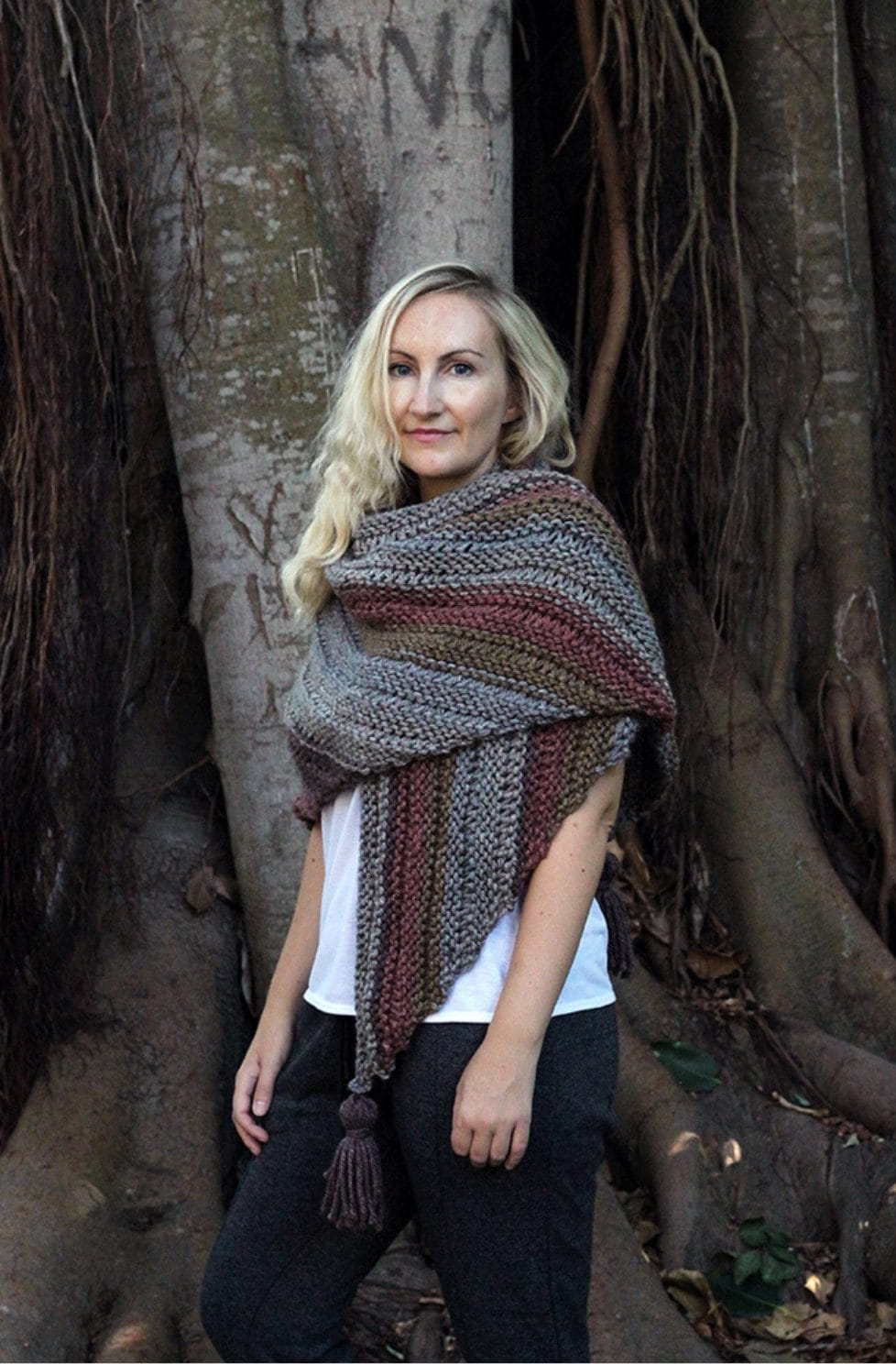 Fall triangle wrap pattern