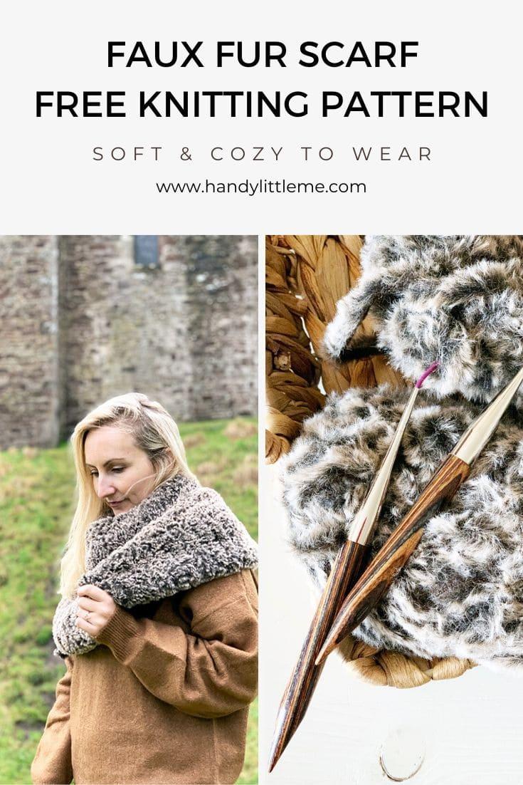Faux fur scarf knitting pattern