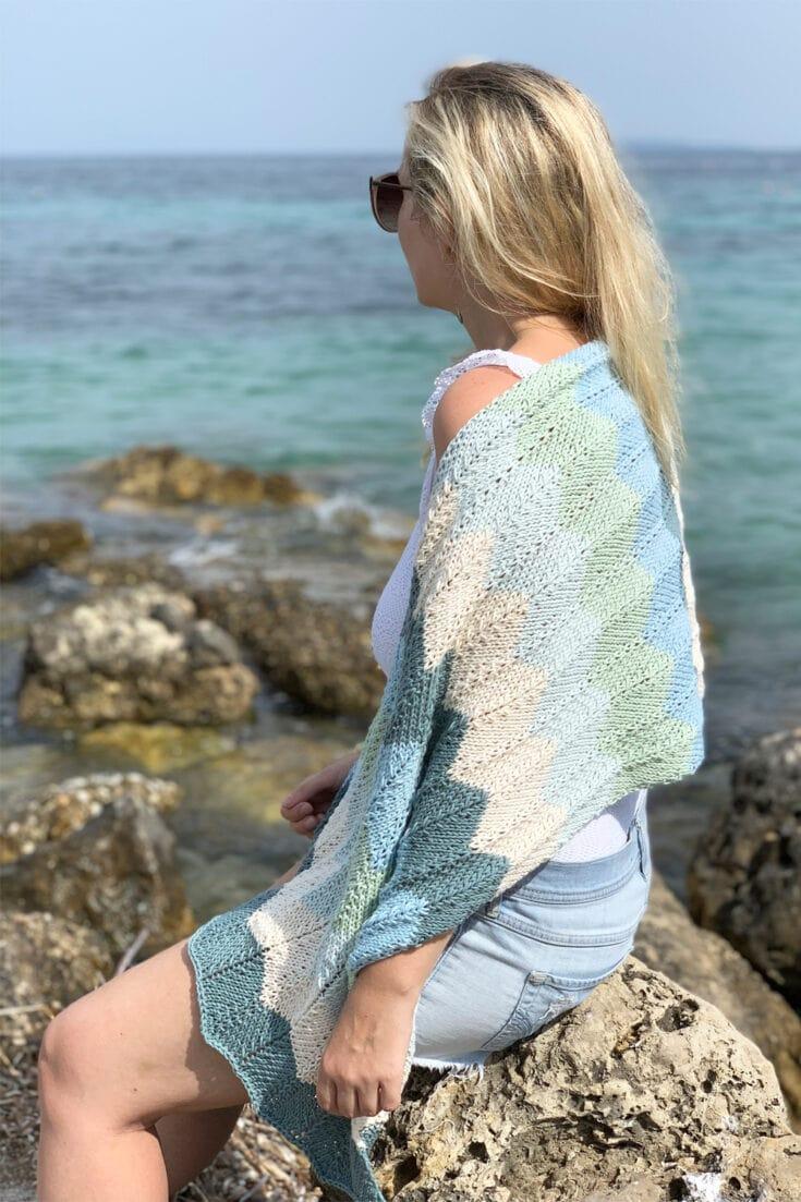 The Sea Glass Shawl Knitting Pattern