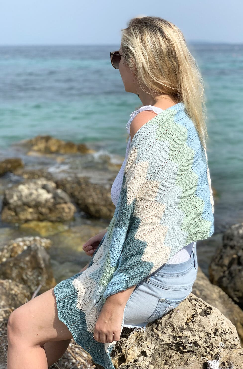 The Sea Glass Shawl Knitting Pattern