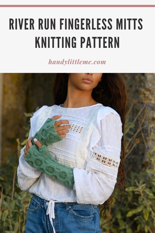 Fingerless mitts knitting pattern