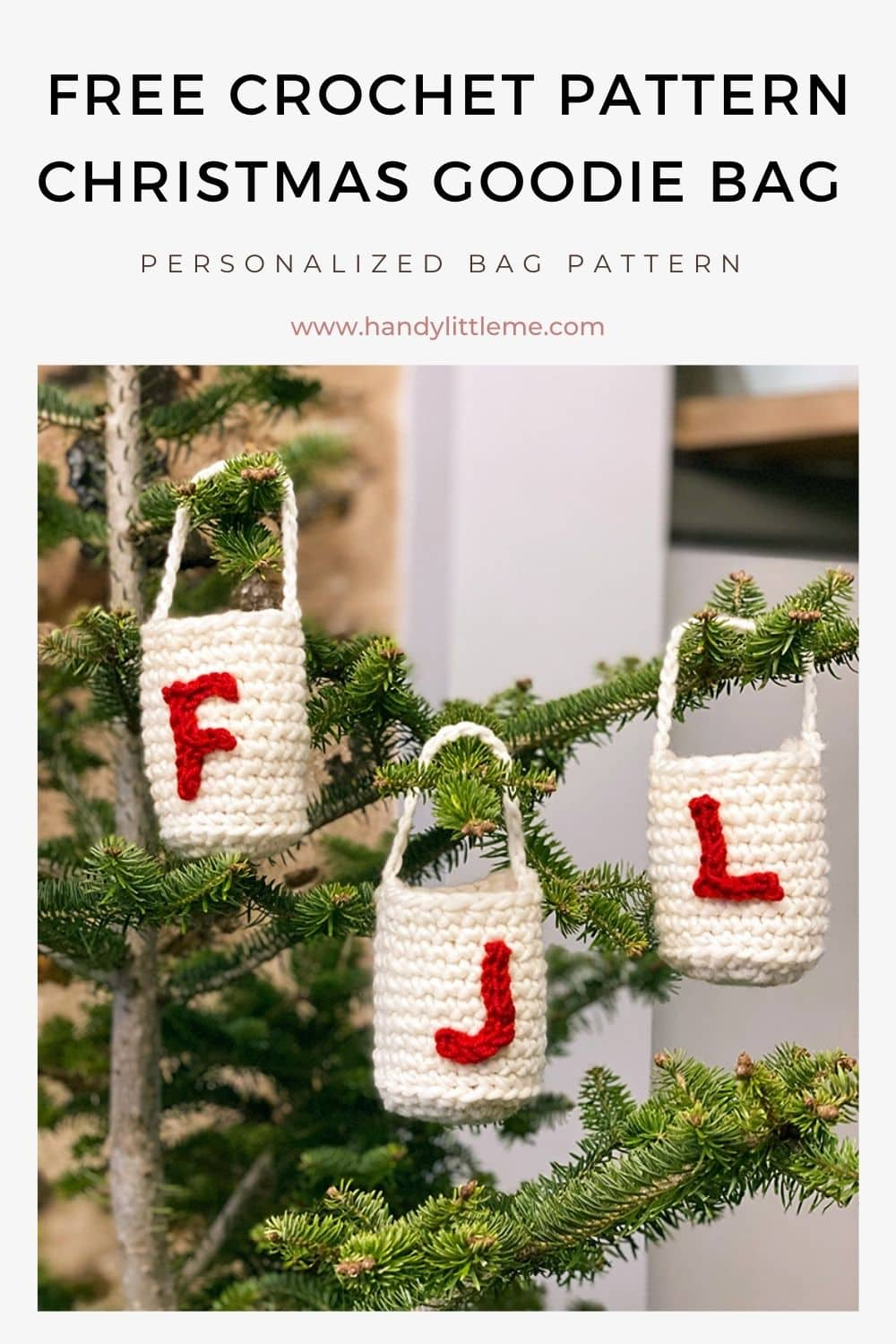 Free Christmas goodie bag pattern