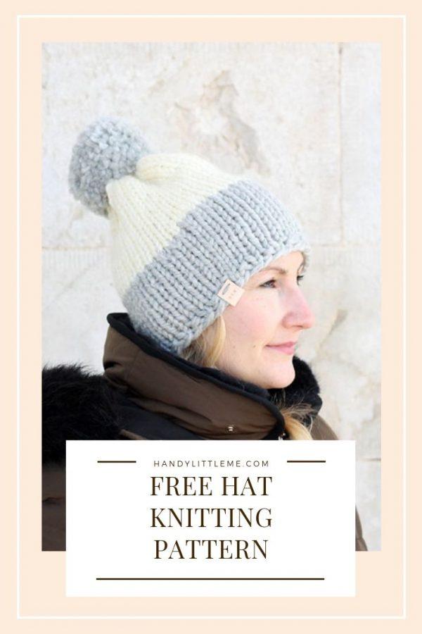 Free beanie knitting pattern