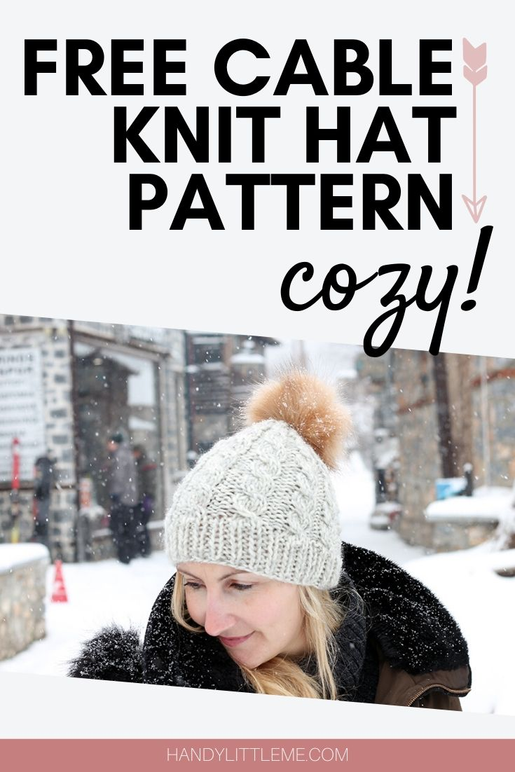Free cable knit hat pattern