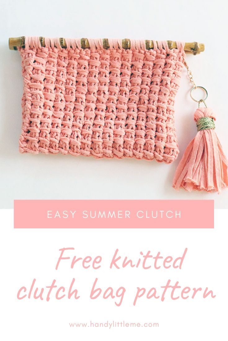 Knitted Clutch Bag - Free Pattern