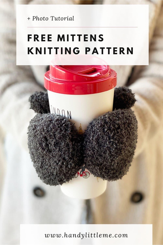 Fuzzy knit mittens pattern