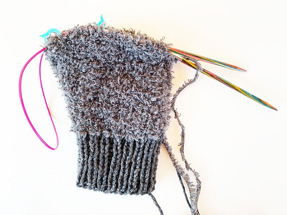 Fuzzy mittens step 2.2