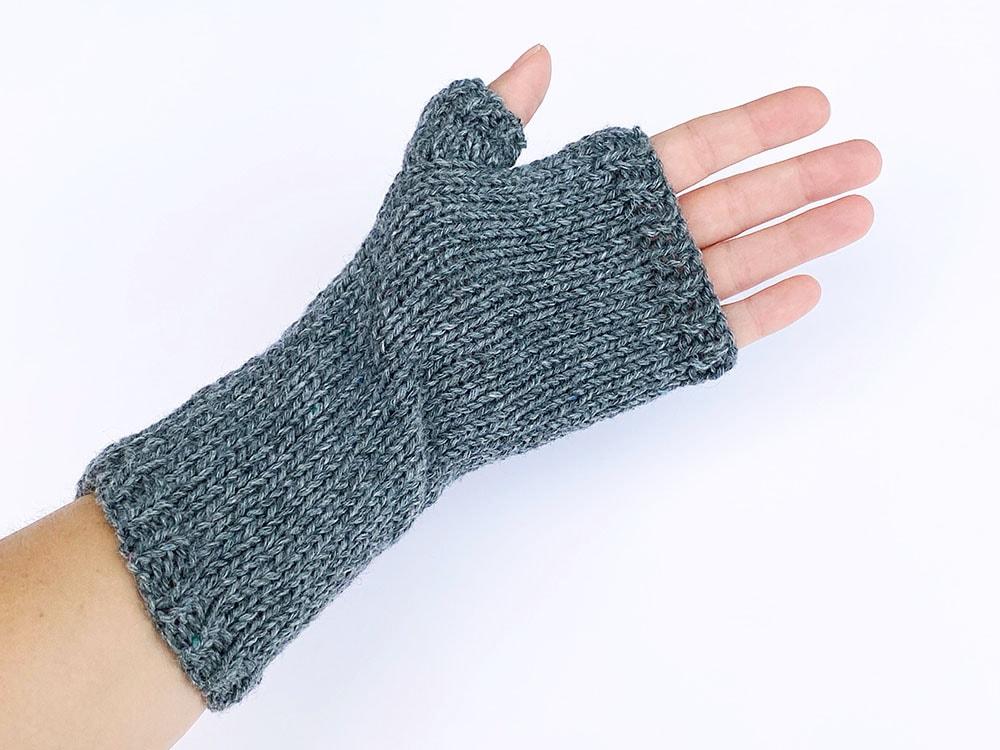 parmaksız eldivenlerin alttan görünümü