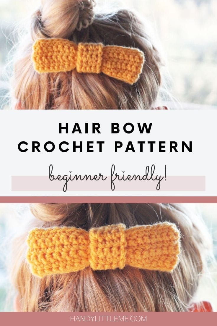 Hair bow crochet pattern