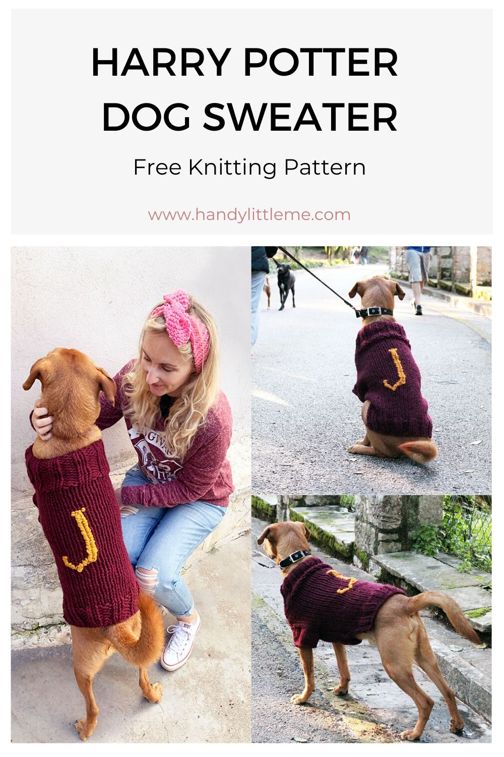 Harry Potter dog sweater pattern